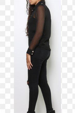 Jeans - Jeans Shoulder Leggings Sleeve Black M PNG