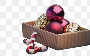 Christmas Ball Ornament - Christmas Ornament Candy Cane Gift PNG