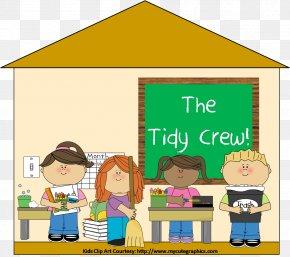 Classroom Cliparts - Student Classroom Cleaner Clip Art PNG
