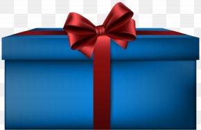Elegant Blue Gift Box Clip Art Image - Gift Box Clip Art PNG
