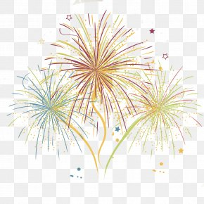 Festival Fireworks Vector Material - Adobe Fireworks Painting Art PNG