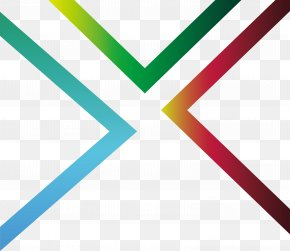 Gradient Color Right Angle Stripes - Right Angle Euclidean Vector PNG