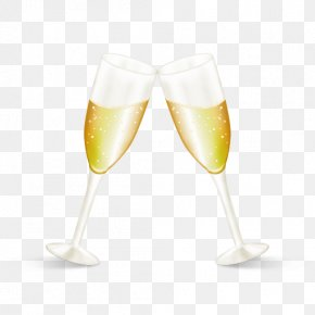 Champagne Glasses - Champagne Cocktail Wine Glass PNG