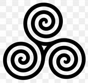 Celtic Triple Spiral - Triskelion Spiral Clip Art PNG