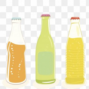 Three Bottles Of Bottled Soda - Soft Drink Juice Carbonated Drink Glass Bottle Cola PNG
