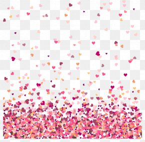 Valentine's Day Love Heartbreak Confetti - Wedding Invitation Valentine's Day Heart Marriage PNG