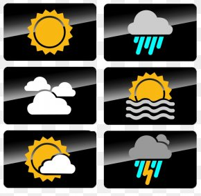 Black Rectangle Weather Icon - Weather Forecasting Symbol Icon PNG