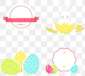 Sticker Yellow - Happy Easter Background PNG