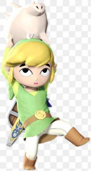 Super Smash Bros Brawl Link - The Legend Of Zelda: The Wind Waker Link Super Smash Bros. Brawl Cartoon Fan Art PNG