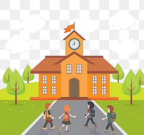 SCHOOL - Student School Cartoon Illustration PNG