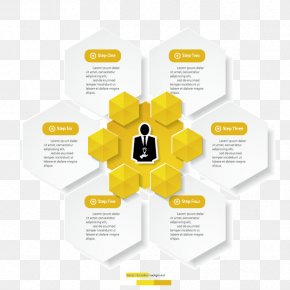 Yellow-white Minimalist Design Infographic Vector Material - Graphic Design Yellow Diagram PNG