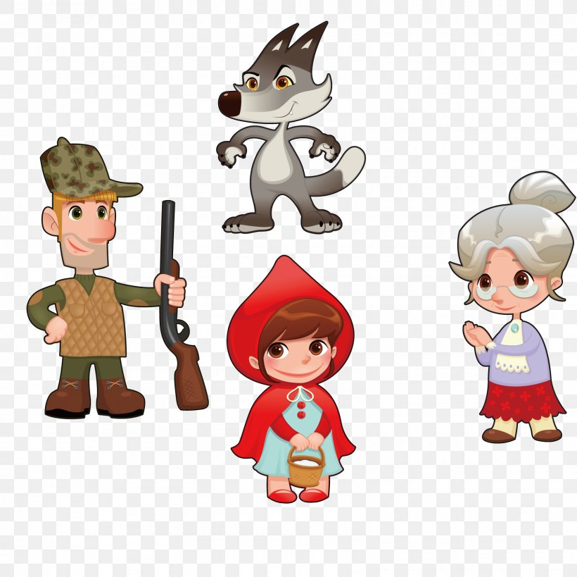 Little Red Riding Hood Cartoon Character Illustration Png