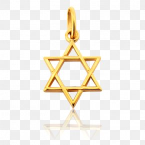 Gold - Star Of David Charms & Pendants Gold Triangle Star Polygon PNG