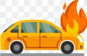 Car On Fire - Compact Car Insurance Motor Vehicle Service PNG