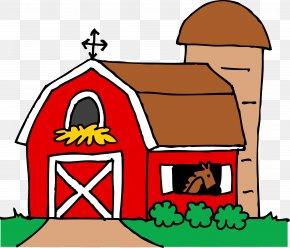 Barn Cliparts Template - Barn Silo Farm Clip Art PNG