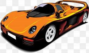 Cartoon Sports Car Element - Sports Car Cartoon PNG
