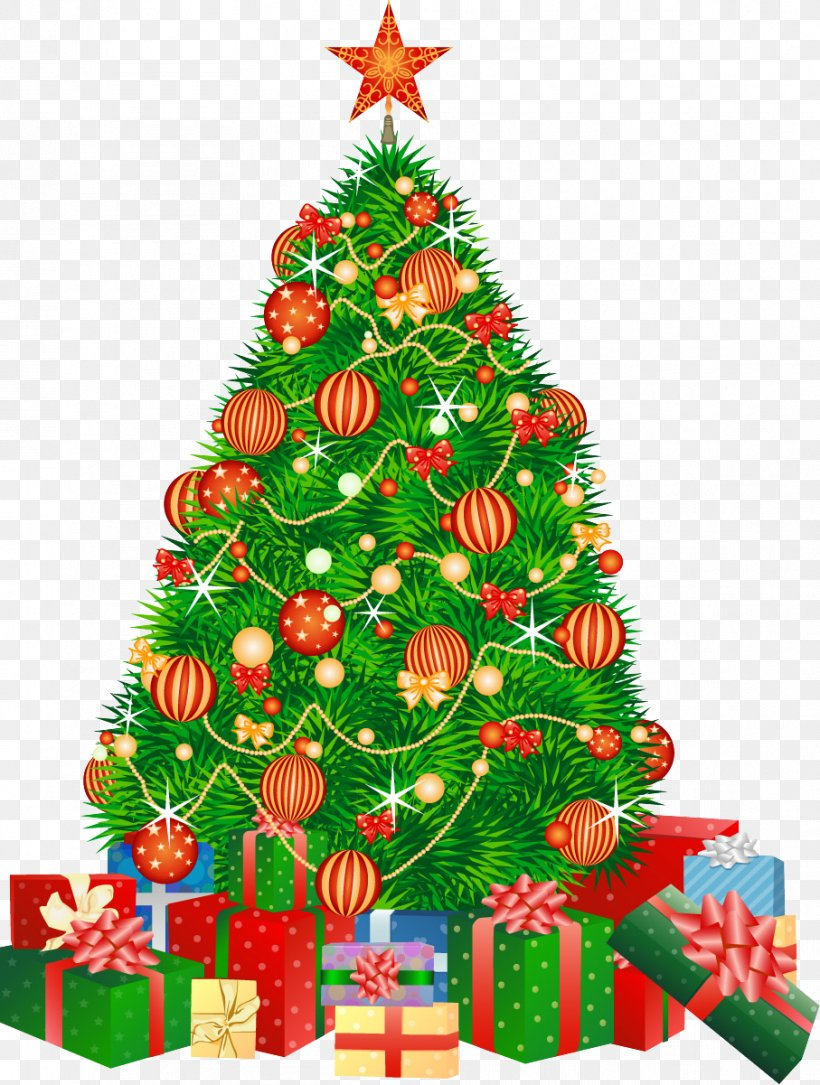 Christmas Tree Santa Claus Gift Boxing Day, PNG, 907x1201px, Christmas Tree, Boxing Day, Christmas, Christmas Decoration, Christmas Eve Download Free