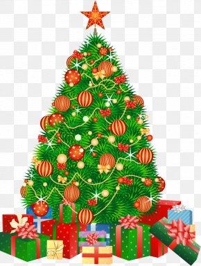Christmas Tree - Christmas Tree Santa Claus Gift Boxing Day PNG