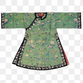 Manchu Women Are Fitted With Light Green Floral - Qing Dynasty Transition From Ming To Qing Manchu People U6e05u671du670du98fe Cheongsam PNG