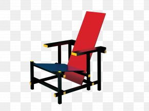 Chair - Red And Blue Chair Bauhaus De Stijl Wassily Chair PNG