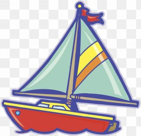 Sailing - Sailboat Sailing Ship Cartoon PNG