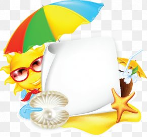 Sun Umbrellas And A4 Paper - Cartoon Stock Photography Clip Art PNG