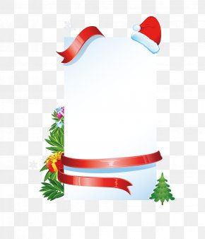 Cartoon Christmas White Bulletin Board - Christmas Tree Computer File PNG