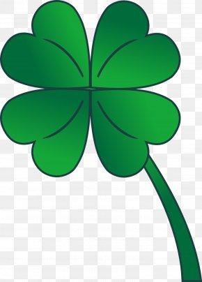 Green Clover - Four-leaf Clover Shamrock Saint Patricks Day Clip Art PNG