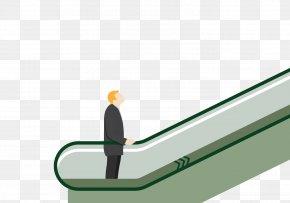 Take The Escalator Upstairs - Escalator Elevator Illustration PNG