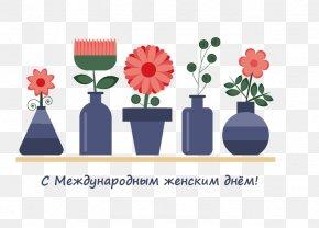 Vases And Flower Pattern - Vase Flower Clip Art PNG