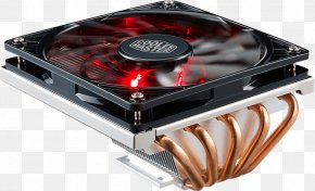 2U Low Profile CPU Cooler With 5 Direct Contact Heatpipes & XtraFlo 120 Slim Fire Red LED PWM Cooling Fan Computer FanCpu Heat Sink - Cooler Master GeminII M5 LED CPU Cooler RR-T520-16PK Computer System Cooling Parts Cooler Master GeminII M5 LED PNG