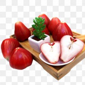 A Wax Apple Fruit - Java Apple Juice Fruit PNG
