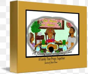 Pray Together - Picture Frames Gallery Wrap Canvas Art Font PNG