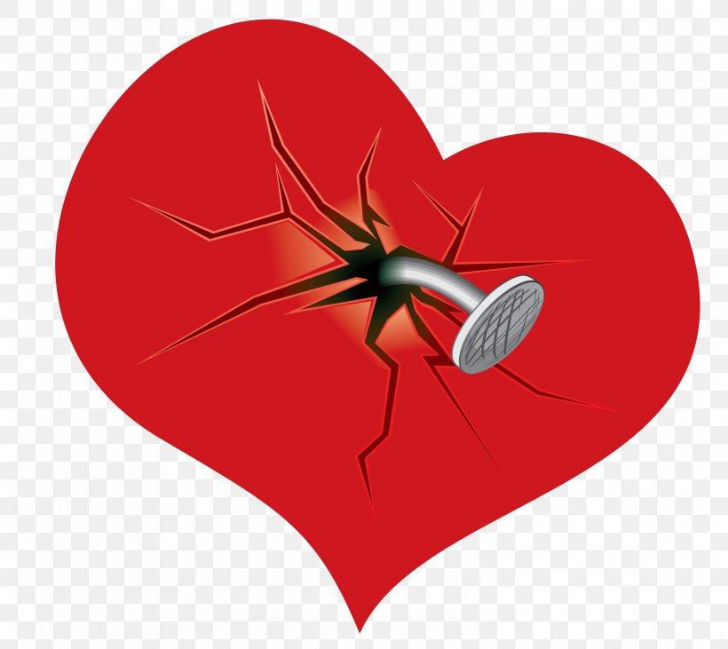 Broken Heart Clip Art, PNG, 3200x2854px, Watercolor, Cartoon, Flower, Frame, Heart Download Free