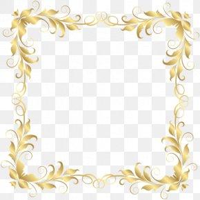 Border Element - Flower Picture Frames Floral Design Clip Art PNG
