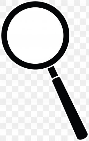 Magnifier Cliparts White - Magnifying Glass Clip Art PNG