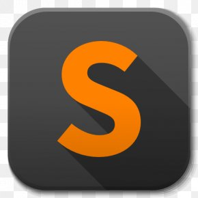 Apps Sublime Text - Text Symbol Orange PNG