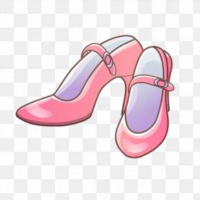 Hand-painted Pink High Heels - High-heeled Footwear Pink Tsukasa Fujii Shoe PNG