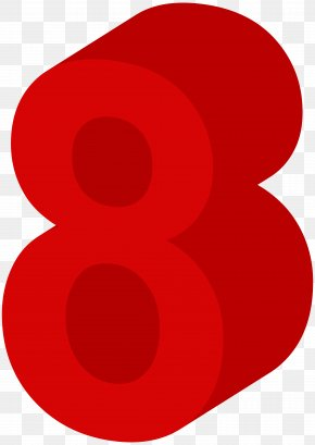 Number Eight Red Clip Art Image - Red Circle Pattern PNG