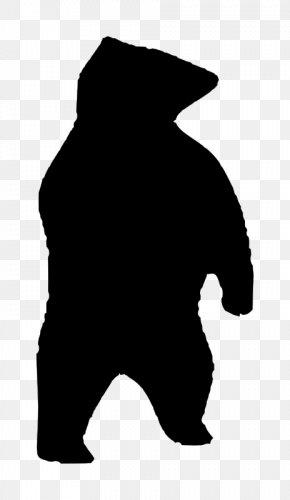 Silhouette Bear - American Black Bear Silhouette Clip Art PNG