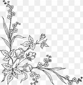 Design - Floral Design Black And White Art Pattern PNG