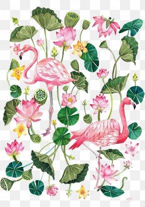 Cartoon Flamingo - Flamingo Printing T-shirt Illustration PNG