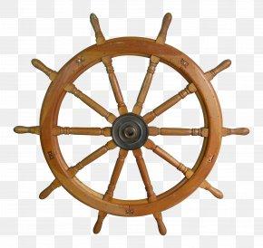 Steering Wheel - Ship's Wheel Wood Helmsman PNG