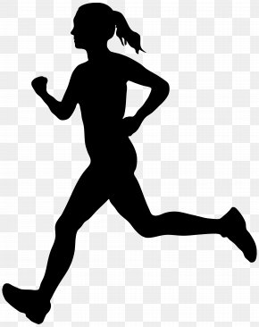 Running Woman Silhouette Clip Art Image - Running Silhouette PNG