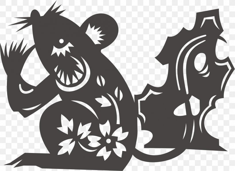 Rat Chinese Zodiac Chinese Astrology Rabbit, PNG, 1602x1169px, Mouse, Art, Astrological Sign, Astrology, Black And White Download Free