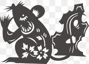 Paper-cut Rat - Rat Chinese Zodiac Chinese Astrology Rabbit PNG