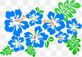Blue Hibiscus Cliparts - Hawaiian Hibiscus Alyogyne Huegelii Clip Art PNG