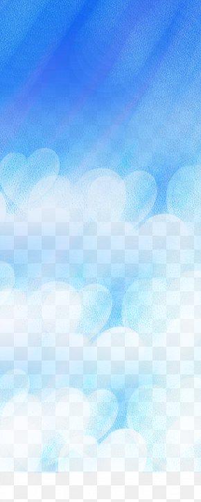 Blue Fantasy Background - Sky Blue Daytime Wallpaper PNG