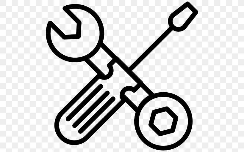 Hand Tool Spanners Hammer Screwdriver, PNG, 512x512px, Hand Tool, Augers, Black And White, Hammer, Pliers Download Free
