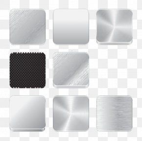 Metal Button Icons Creative Buckle Free HD - Button Download Icon PNG